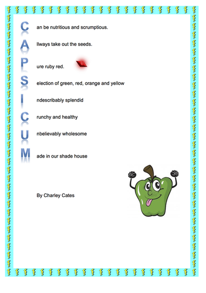 Warm-up: Write an Acrostic Poem PowerPoint Presentation, PPT - DocSlides